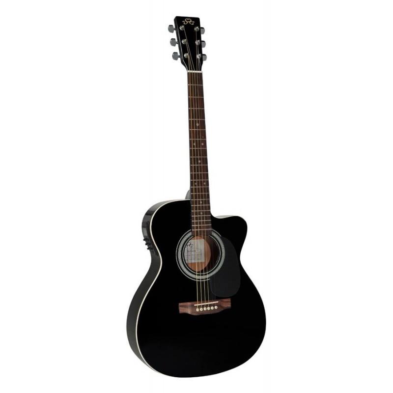Chitara electro-acustica SX OM160CEBK