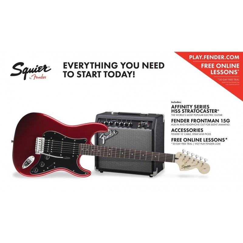 Set chitara Squier Affinity Strat HSS cu Fender Frontman 15G