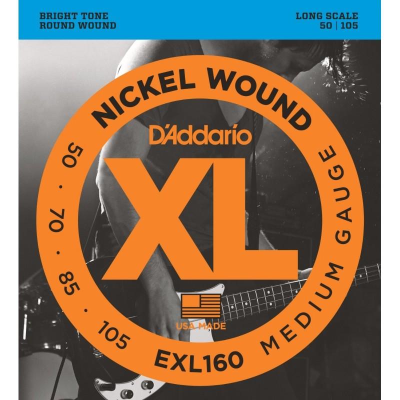 D'Addario EXL160 [Corzi chitară bass]
