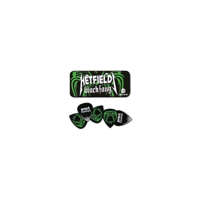 Dunlop PH112T1.14 Black Fang Pick Tin - Set Pene Chitara