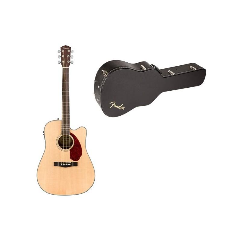 Set Chitara electro-acustica Fender CD-140SCE Natural