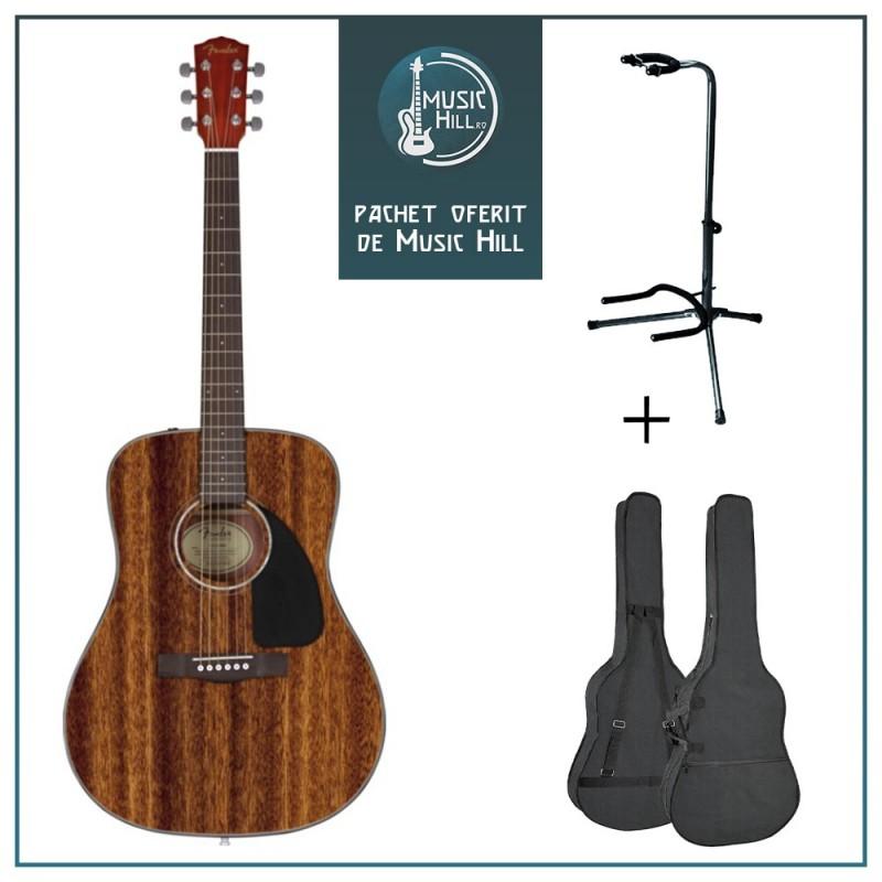 Fender CD-60 All Mahogany [Chitară acustică + husă + stativ]
