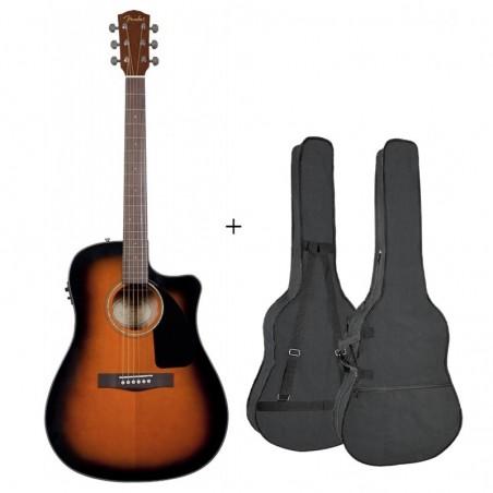 Fender CD-60 CE Sunburst [Chitară electro-acustică + husă]