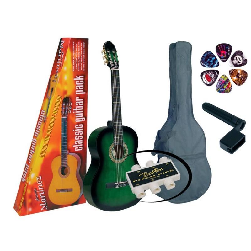 Set Chitară clasică 4/4 Martinez MTC080-PU Basic L