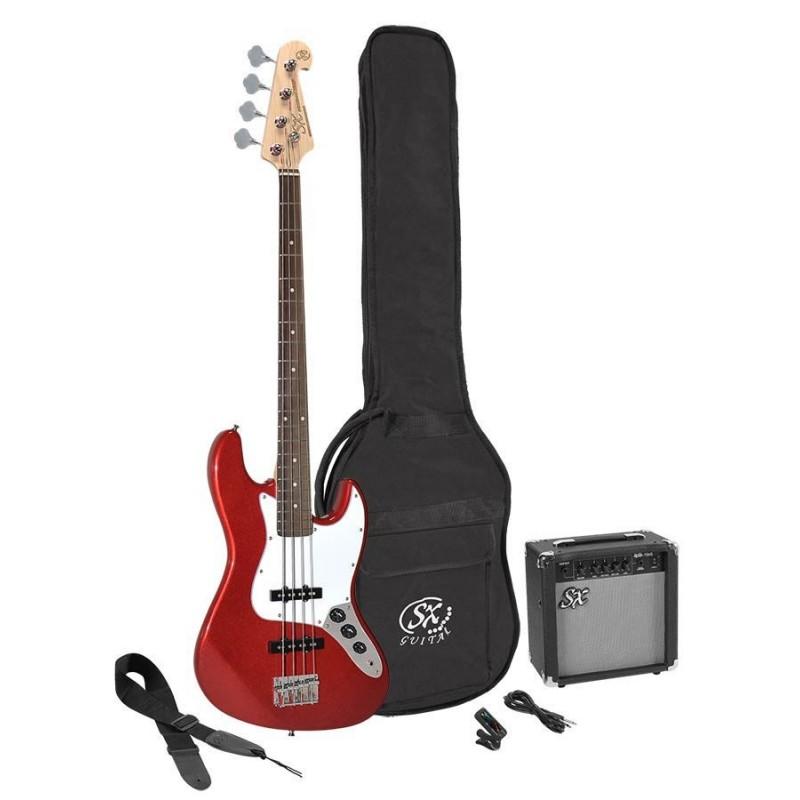 Set chitara bass SX SB1SKCAR