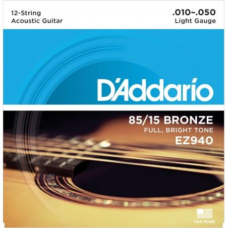 Corzi chitară acustică D'Addario Ez940