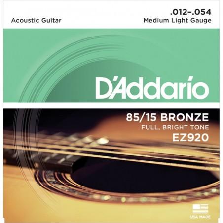 Corzi chitară acustică D'Addario Ez920 12-54